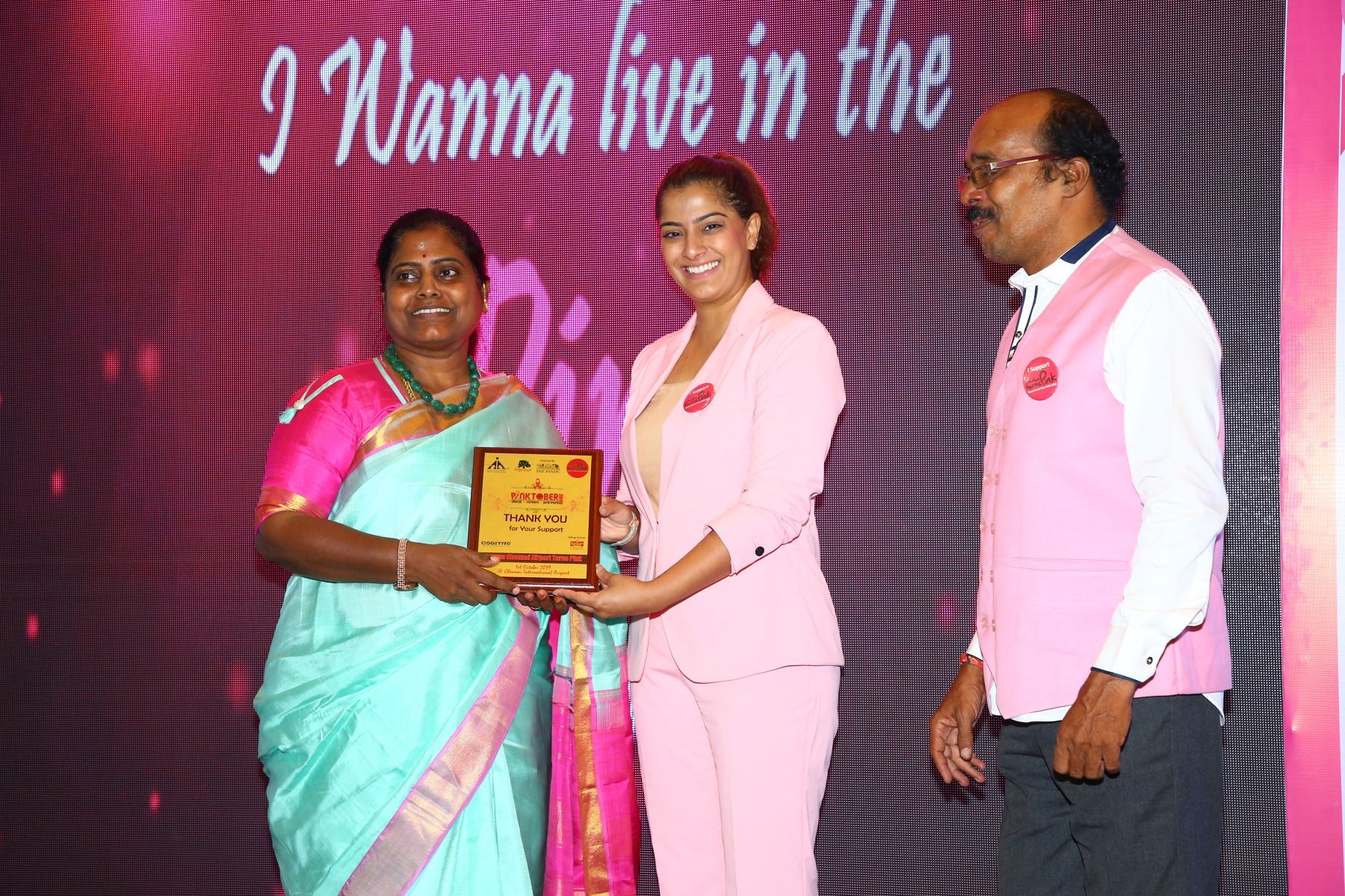 Namma Chennai Airport Turns Pink – PINKTOBER 2019 – Breast Cancer Free India – Event Stills
