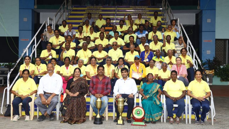 """Honouring the Chennai District Masters Athlete Medalists at the Tamil Nadu Masters Athletic Meet 2019 at Trichy"". Stills"