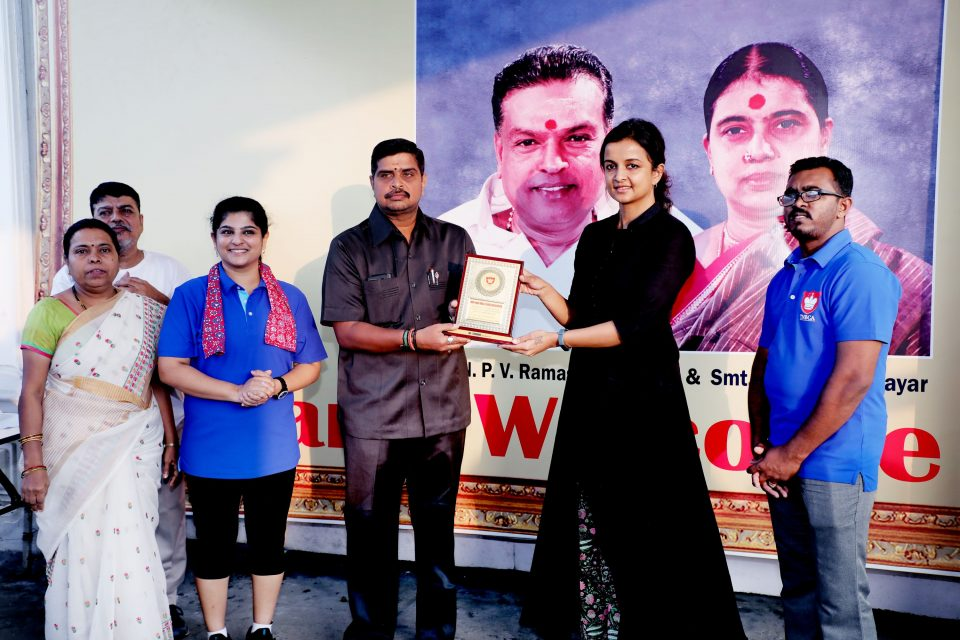 Mrs.Kiruthiga Udhayanidhi launched the TNBCA official flag and flag offed the walkathon Stills