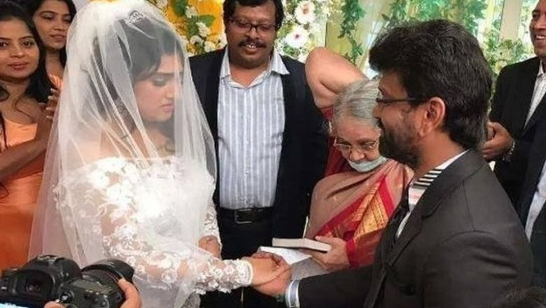 ACTRESS VANITHA – PETER PAUL WEDDING STILLS