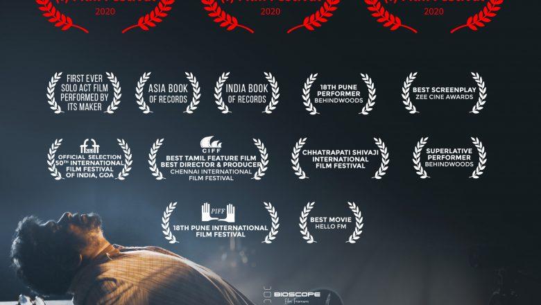 Radhakrishnan Parthiban's OS7 wins 3 honours at Toronto Tamil International Film Festival 2020.