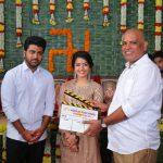Actor Sharwanand Actress Rashmika Mandanna, Tirumala Kishore, SLVC's Aadaalloo Meeku Johaarlu Launched.