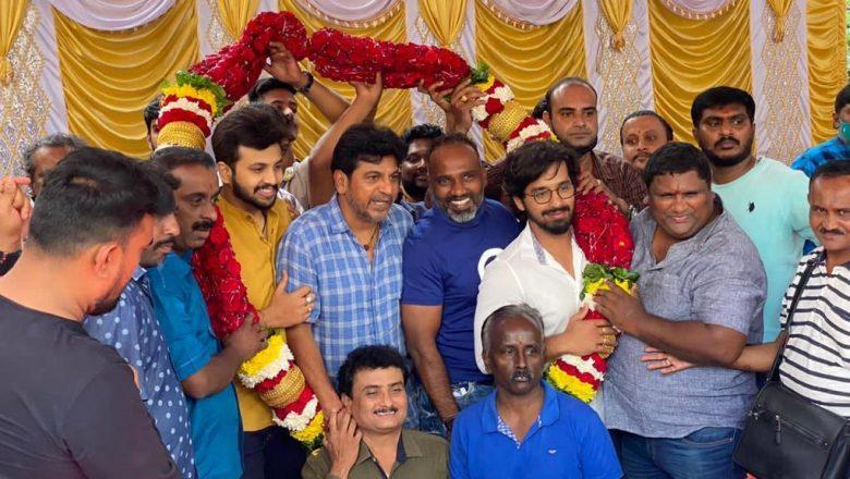 Tribute to Kannada superstar Sivarajkumar Cinematographer Director Vijaymiltan's movie Pooja celebration took place yesterday .