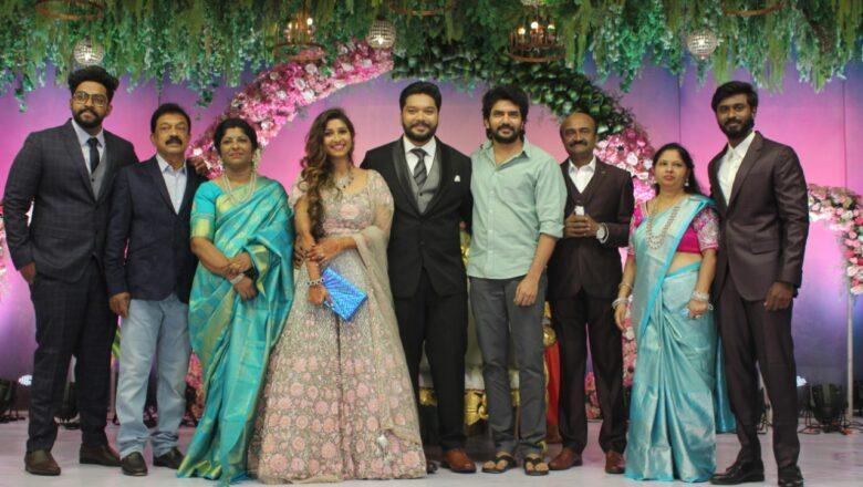 Actor MS Bhaskar's Daughter Aishwarya marriage Reception Stills