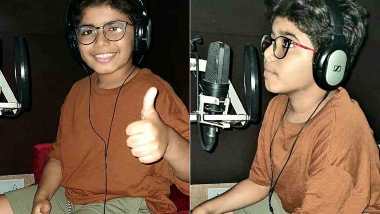 Actor Arun Vijay's son Arnav Vijay starts dubbing for his debut movie produced by Suriya's 2D Entertainment