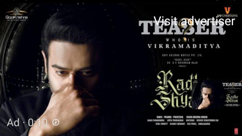 Radheshyam Teaser | Introducing Prabhas as Vikramaditya | Pooja Hegde | Radha Krishna Kumar